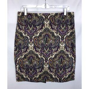 J. Crew Factory Printed Pencil Skirt in Sateen Dot